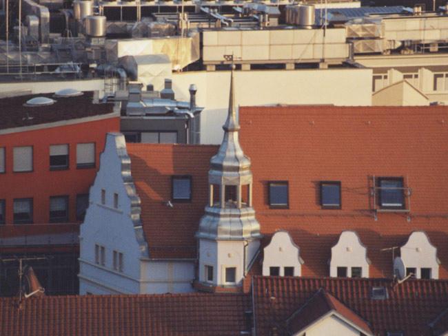 Pressehaus in Jena  Dachdeckung und Verblechung des Turms